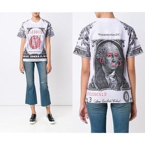 Opening Ceremony one Dollar Bill Cotton T-shirt